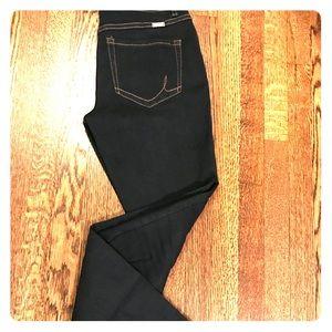 INC super dark wash regular fit skinny jeans NWOT